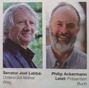 Joel Labbé und Philip Ackermann-Leist