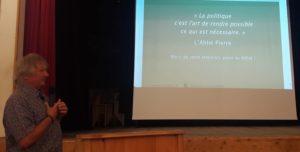 Joel Labbé beim Vortrag in Mals am 20. August 2018