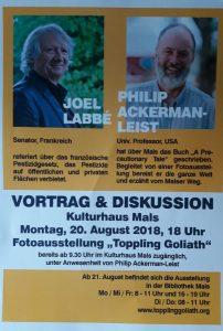Joel Labbé und Philip Ackerman-Leist im Vortrag
