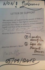Unterstützungserklärung aus den USA