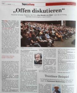 Interview der Südiroler Tageszeitung mit Alexander Schiebel