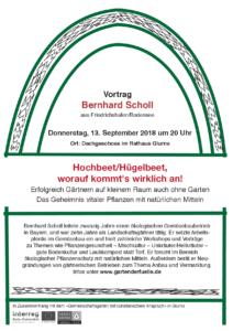 Plakat: Vortrag Bernhard Scholl