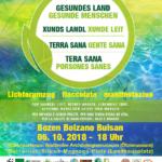 Facciolat a Bolzano il 05.10.18 sotto il motto: Terra sana - Gente sana
