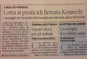 Alto Adige 09.10.18 - Lotta ai pesticidi - Kennedy