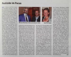 Pestizide im Focus, Johann Zaller in Mals