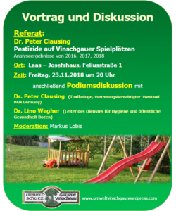 Pestizide auf Vinschgauer Spielplätzen