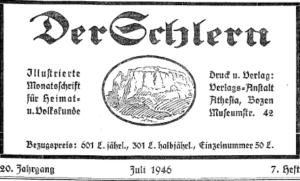 Schlern Heft 1946 - Karl Felix Wolff