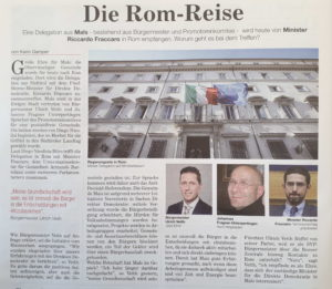 Delegation aus Mals in Rom