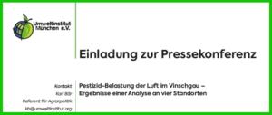 Pressekonferenz Mals - Pestizide in der Luft