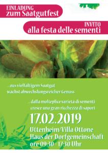 Saatgutfest Uttemheim - 17. Februar 2019