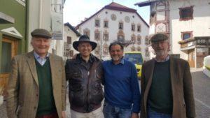 Sigmund Kripp, Johannes Fragner-Unterpertinger, Peter Gasser, Felix Prinz zu Löwenstein