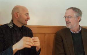 Felix Prinz zu Löwenstein mit Johannes Fragner-Unterpertinger am 21.03.19 in Mals