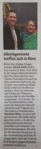 Vandana Shiva und Ulrich Veith treffen sich in Rom