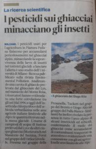 pesticidi sui ghiacciai