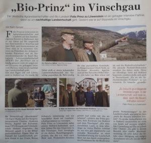 Felix Prinz zu Löwenstein in Mals - Südtirol