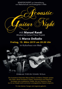 Benefizkonzert Waldorfschule Mals - 15. März 2019