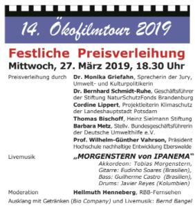 Ökofilmtour 2019 - Einladung und Programm