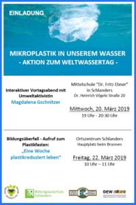 """Aktion """"Mikroplastik im Wasser"""" Der """"Aufruf zum Plastikfasten – eine Woche plastikreduziert leben"""""""
