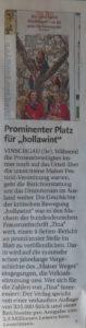 """Artikel über """"hollawint"""" in Frauenzeitschrift """"Tina"""""""