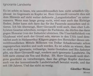 Ignorante Landwirte - Glyphosat