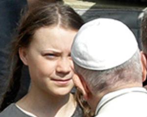 Klimaaktivistin Greta Thunberg trifft Papst Franziskus
