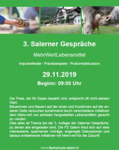 Salerner Gespräche - 29.11.19