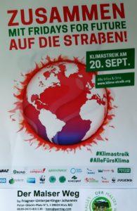 Klimastreik am 20. September mit fridays for future