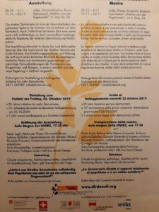 Direkte Demokratie - Freitag, 25. Oktober 17.30 Uhr Aula Magna, Universität Bozen