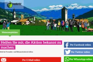Dank an das Umweltinstitut München für die massive Unterstützung des Malser Weges