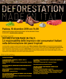 DEFORESTATION made in ITALY