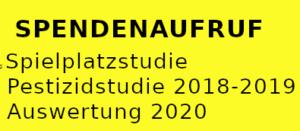 Spenden - Spielplatzstudie - Pestizidstudie 21018/2019